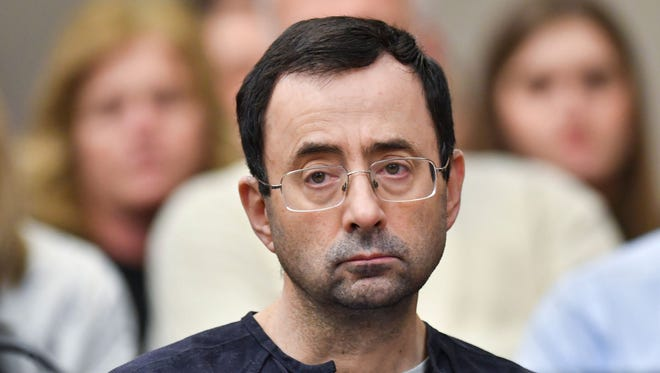 Disgraced former Michigan State University and USA Gymnastics doctor Larry Nassar in court.