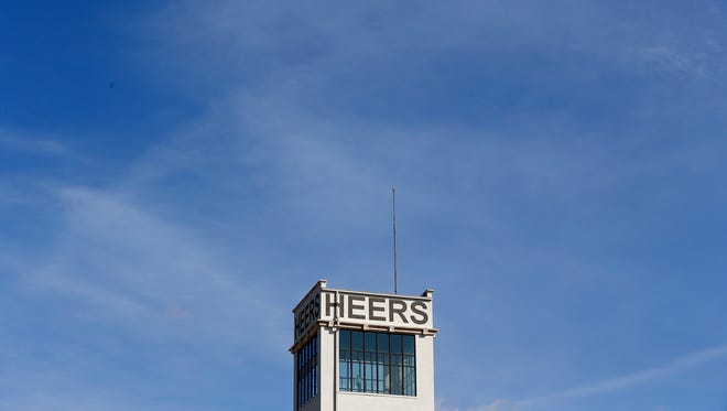 The newly renovated Heer's Building  still has the pole where an American flag once flew.