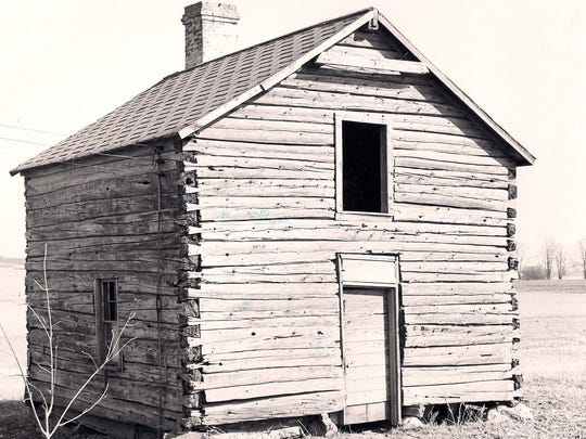 The Helle-Thompson Cabin before its move to Pinecrest Historical Village in 1971.