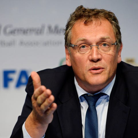 Former FIFA secretary general Jerome Valcke, whose job at FIFA was to oversee TV and media rights, was a close associate of FIFA president Sepp Blatter.