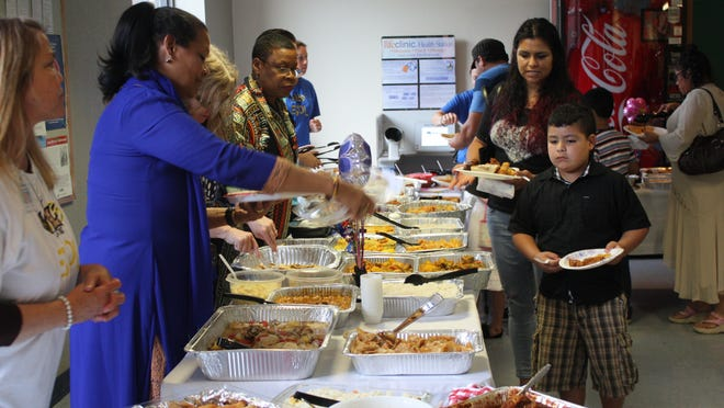 A variety of foods from all over the world were served during the second annual ESOL Family Festival held Thursday at the J.E. Hall Center.