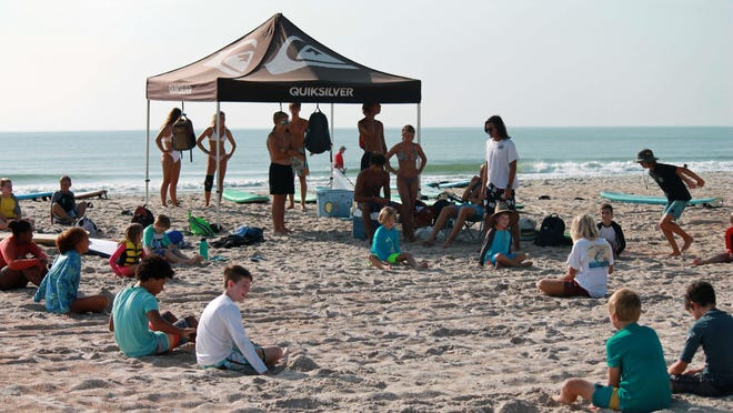 Opening day at Stoked to Surf Camp.