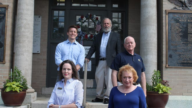 """Democrats Robert """"Renny"""" Cushing, Mike Edgar, Thomas Loughman, Katherine Harake and Elaine Ahearn are all running to represent Hampton in the state House."""