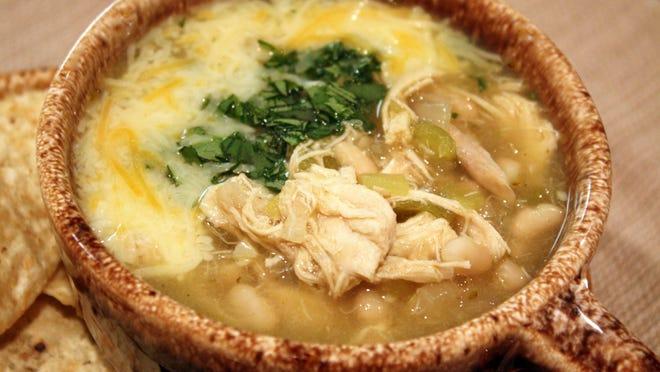 Green Enchilada Soup.