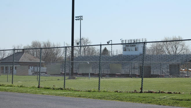 Kewanee High School football stadium stands idle this spring. Coaches and players are waiting on guidelines from the Illinois High School Association on return-to-play.