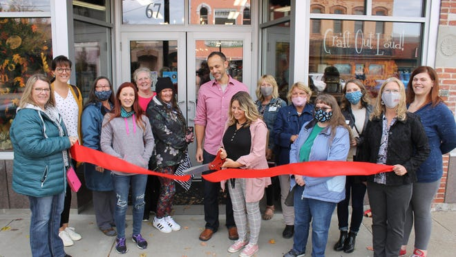 Coldwater Area Chamber of Commerce welcomed Charley and Shelly VanDongen, co-owners of Craft Out Loud!, to downtown Coldwater, with a ribbon-cutting on Friday.