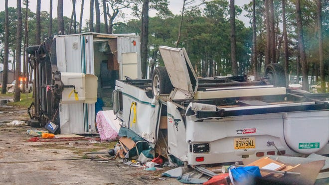 A tornado hit Cherrystone Campground in Virgina Thursday, killing a Jersey City couple and critically injuring their teenage son.