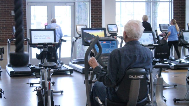 Members exercise at the LIFT Wellness Center in Jackson.