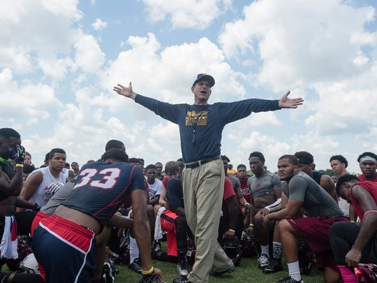 "Paul Finebaum said Jim Harbaugh's camps ""were about self-promotion. It was about Jim Harbaugh. It wasn't about anything else."""