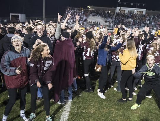 Shippensburg's student section, the Maroon Platoon