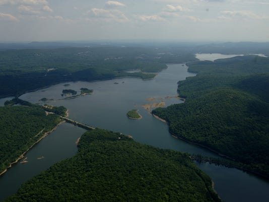 Aerials of Wanaque Reservoir and Mahwah