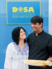 Leda Scheintaub and Nash Patel run the Dosa Kitchen