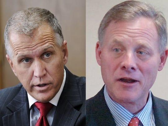 Sen. Thom Tillis, left, and Sen. Richard Burr