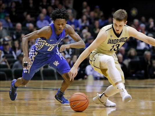 Cowgill 6 Uk Basketball Visits Vanderbilt Tuesday: Vanderbilt At No. 9 Kentucky: Storylines