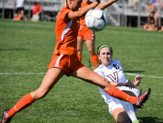 Valley's Abbey Van Wyngarden (6) takes a shot on goal