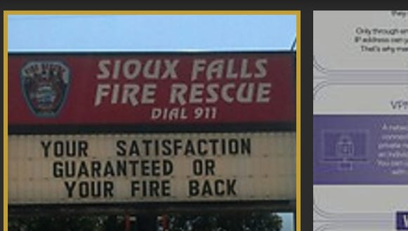 An old Sioux Falls Fire Rescue sign resurfaced on social media Tuesday.