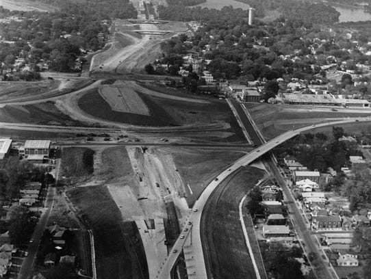 Construction of the Interstate 65 interchange with