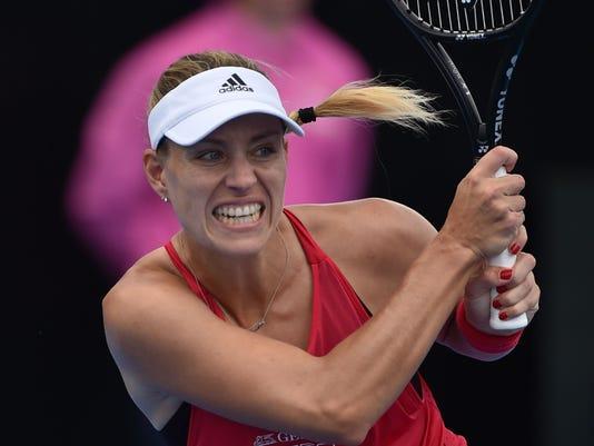 2018-01-08-Angelique Kerber advances; Sloane Stephens out in Sydney International-sydney