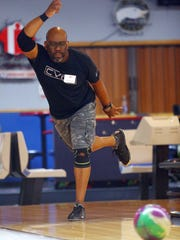 Curtis Frazier of Rockaway bowls during the three-day