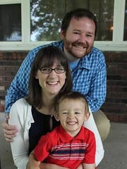 Simon Mahan is running for the District 2 seat on the Lafayette Parish School Board. He is pictured with his wife, Danielle, and his son, Jonah.