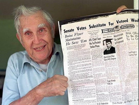 This June 1997 photo shows former East Oregonian reporter