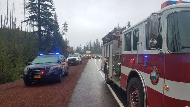 A double-fatal crash closed Highway 20 one mile east of Santiam Pass Summit at milepost 81 on Thursday.