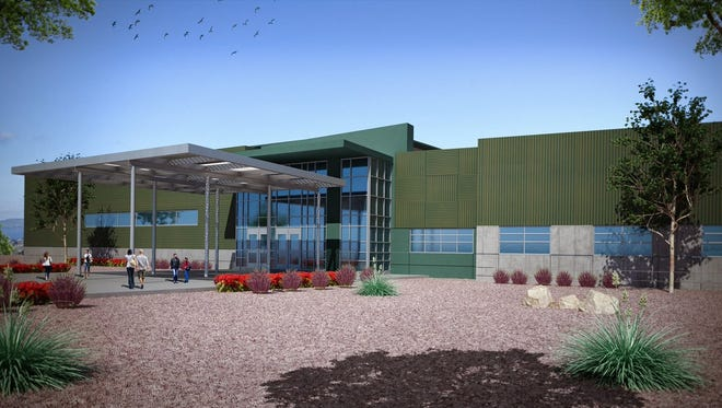 Socorro ISD trustees unanimously voted to name the district's newest elementary school, shown in an artist's rendering, after Sgt. Jose Carrasco, the district's first sworn peace officer.
