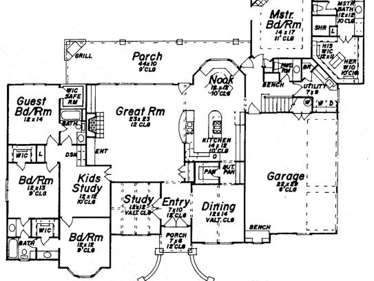 With the master suite on the opposite side of the home