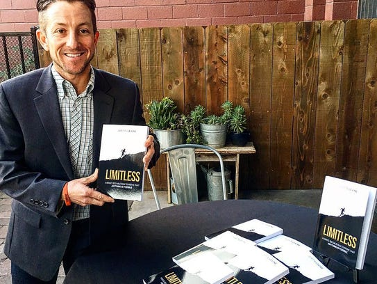 Justin Levine hosted a book sining at Pita Kebob in