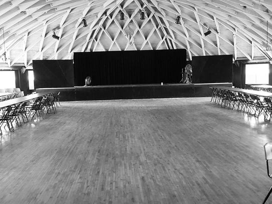 The stage at Silver Dome Ballroom.