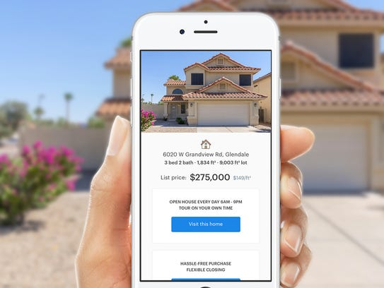 Buyers can search for homes on Opendoor's app.