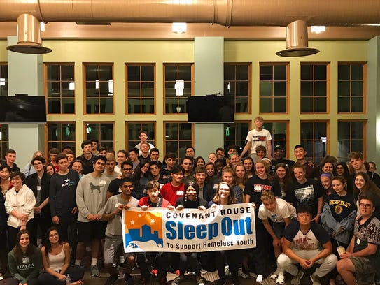 Hun students sleep out and raise over $9,500 for homeless