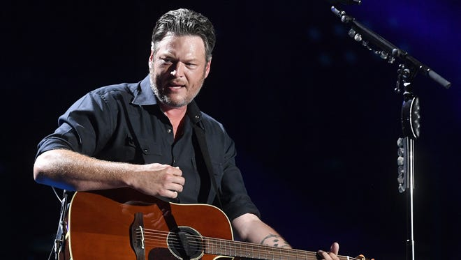 Blake Shelton performs at the 2018 CMA Music Festival on June 8, 2018, at Nissan Stadium in Nashville.
