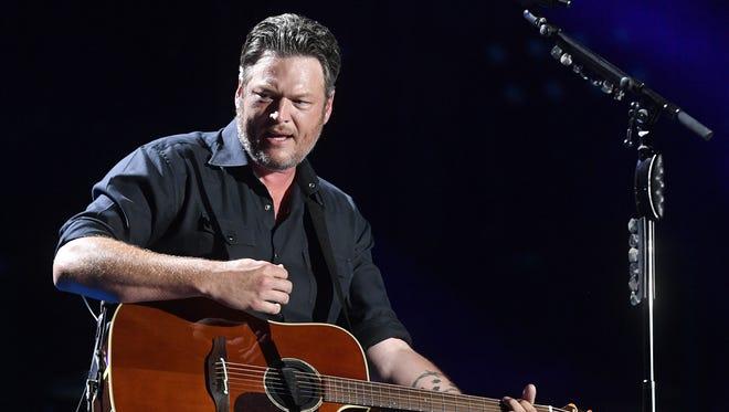 Blake Shelton performs at the 2018 CMA Music Festival on June 8, 2018, at Nissan Stadium in Nashville.