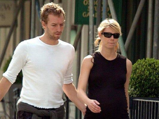 Chris Martin and Gwyneth Paltrow in 2004