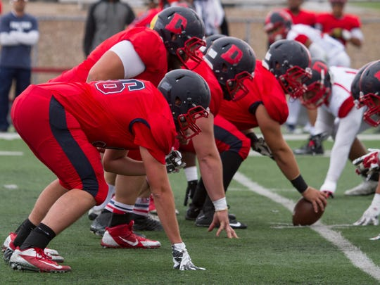 Dixie State football concludes their Spring schedule with their annuals scrimmage Saturday, April 9, 2016.