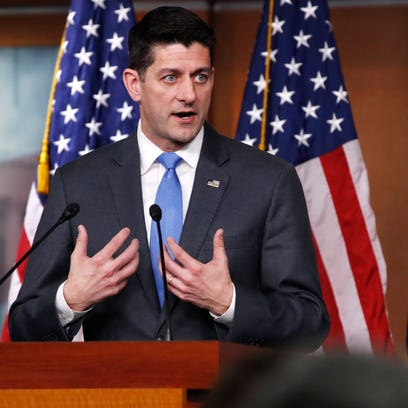 House Speaker Paul Ryan of Wis., announces that he