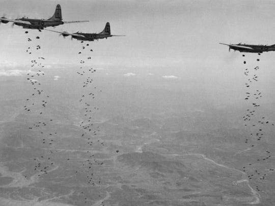 In this Jan. 18, 1951, file photo, Bomber Command planes
