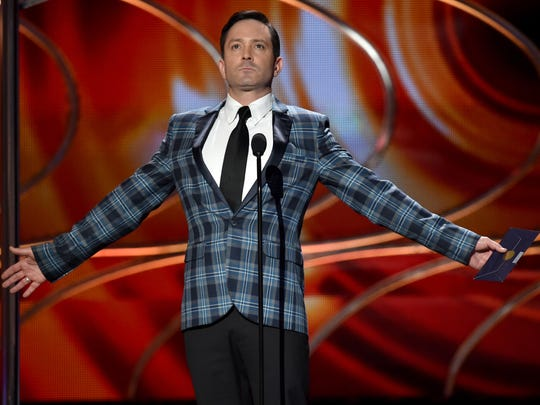 Actor Thomas Lennon speaks onstage at The 41st Annual People's Choice Awards at Nokia Theatre LA Live on Jan. 7, 2015 in Los Angeles, California.