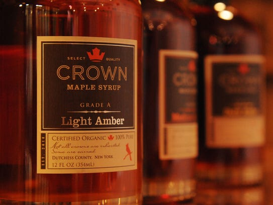 Crown Maple Syrup in the tasting room at Madava Farms