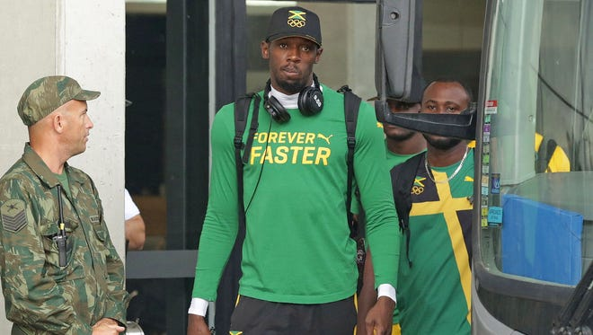 Usain Bolt of Jamaica will chase his third consecutive gold medal in the 100, 200 and 4x100 relay.