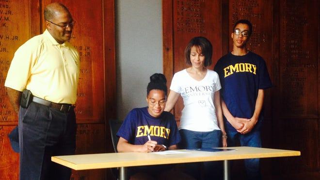 Asheville School senior Gabi Davis will continue her track and field career at Emory (Ga.).