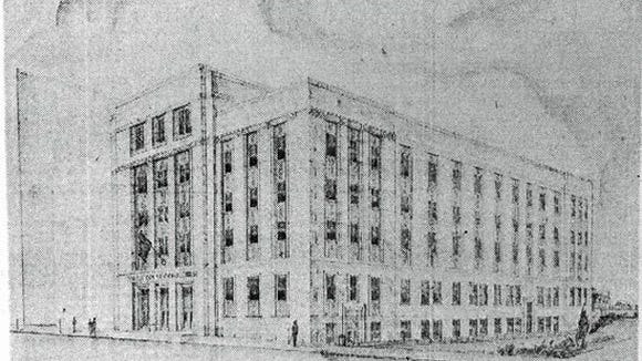 In the 1950s to 1970s, no building was safe, and that included the Dempwolf-designed York County Courthouse, now Administrative Center. This was the proposed replacement design. But cooler heads - or those with better aesthetic sense - prevailed and the turn-of-the-20th century building stands today.