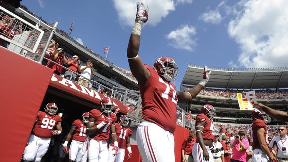 Alabama true freshman Cam Robinson took matters into
