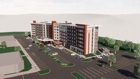 A six-story Hyatt Hotel is planned for The Yard culinary district in Fishers.