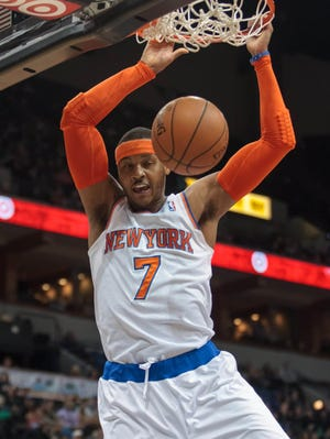 Knicks forward Carmelo Anthony will be sought-after this offseason.