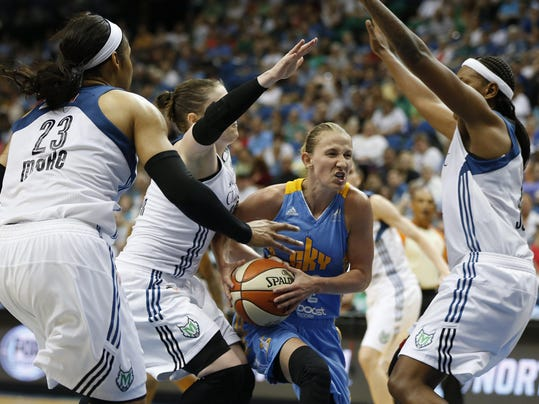 Courtney Vandersloot, Maya Moore, Lindsay Whalen, Asjha Jones