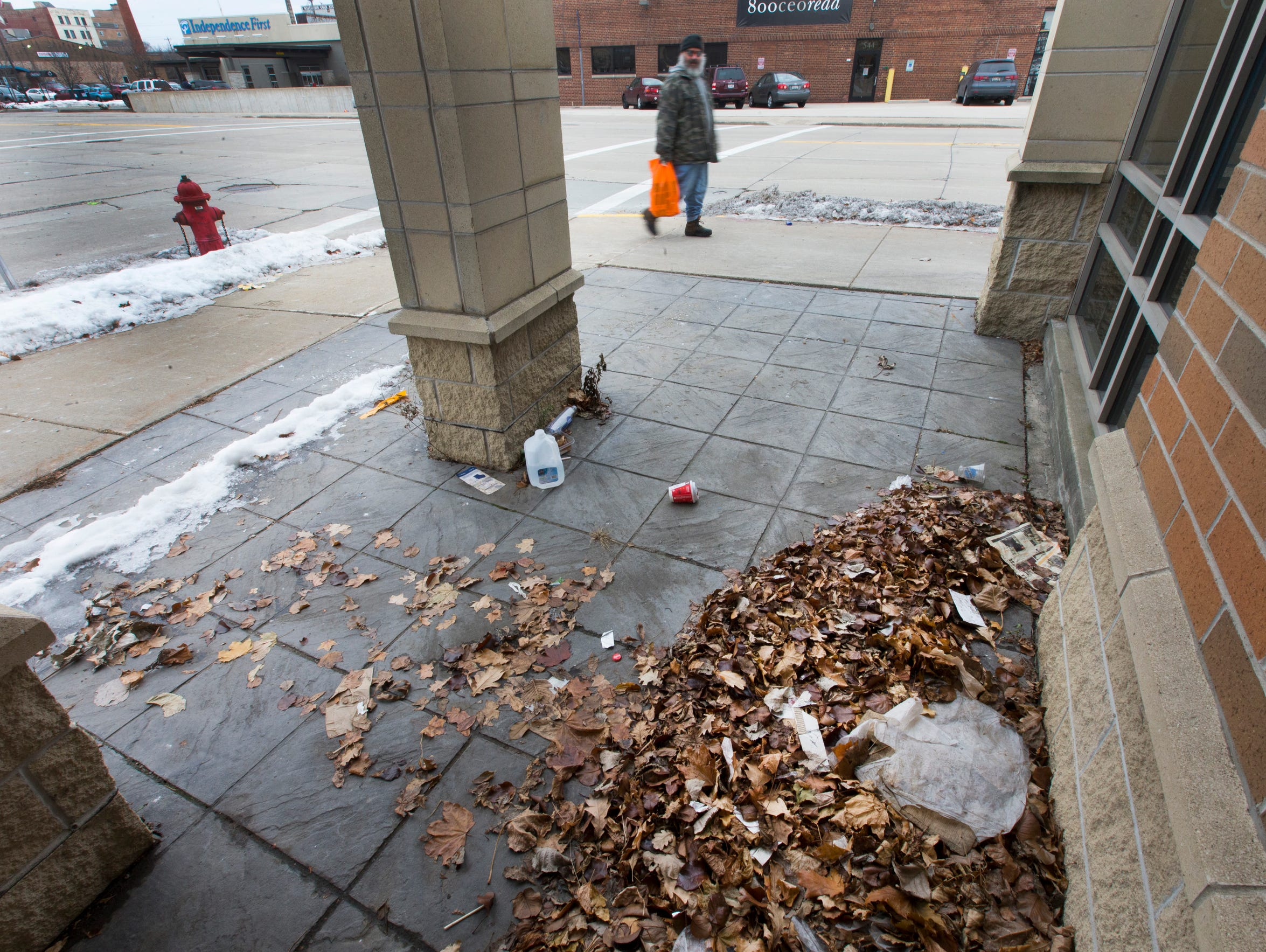 A pile of dead leaves marks the spot where Tanilo Serafin