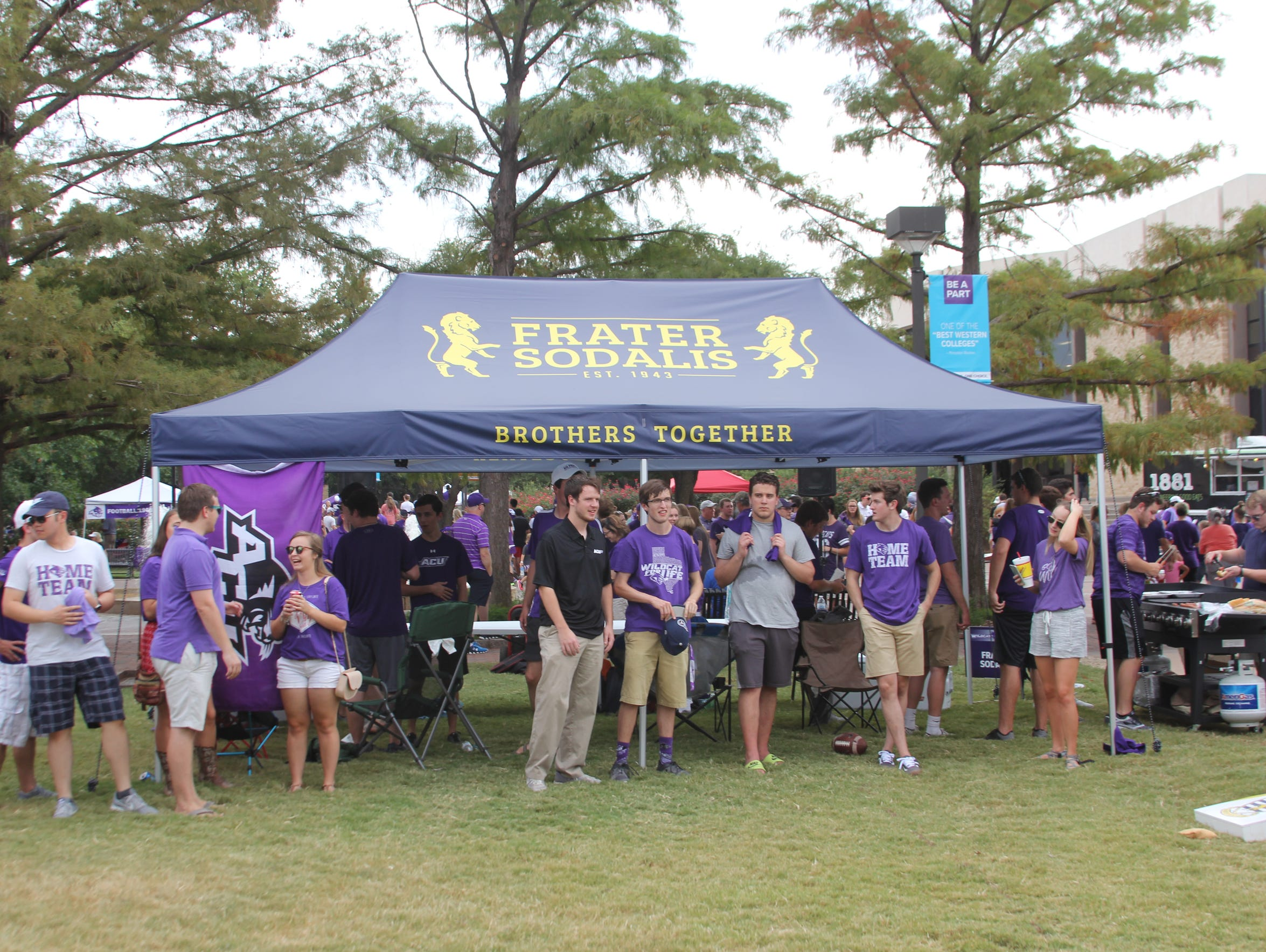 A new Frater Sodalis tent for tailgating. Alumni provided