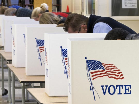 Voters cast their ballots on Election Da
